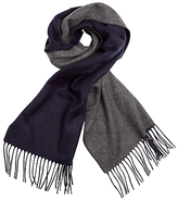 John Lewis Double-faced Cashmink Scarf, Navy/grey
