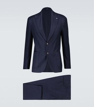 Lardini Easy Wash linen-blend suit