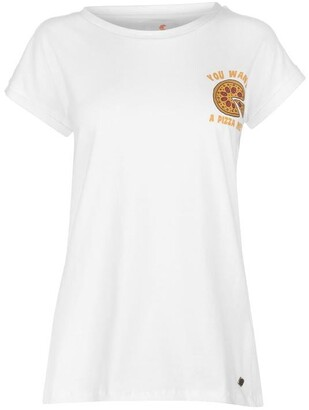 Soul Cal SoulCal Deluxe Chest Slogan T Shirt