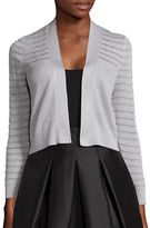 Calvin Klein Metallic Open-Front Cardigan Sweater
