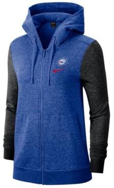 Nike Women's Philadelphia 76ers Full-Zip Club Fleece Jacket