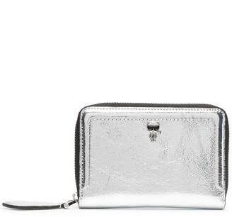 Karl Lagerfeld Paris Ikonik metallic-print wallet