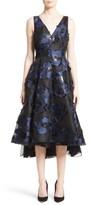 Lela Rose Women's High/low Metallic Fil Coupe Dress