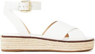 MICHAEL Michael Kors Leather Platform Espadrille Sandals