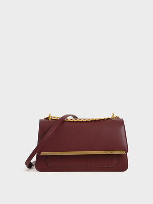 Charles & Keith Metallic Accent Evening Clutch