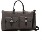 hook + ALBERT Gray Canvas Garment Weekend Bag