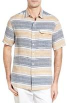 Tommy Bahama Men's Cubana Bay Original Fit Stripe Linen Sport Shirt