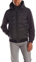 Tommy Hilfiger Men's Mixed-Media Puffer Jacket