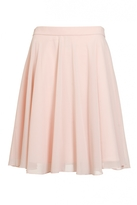 Quiz Peach Chiffon Flared Midi Skirt
