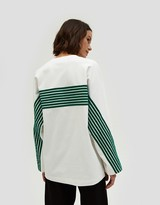 Velvet Stripe T-Shirt in Green