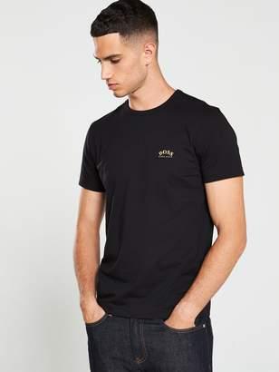BOSS Curved Small Logo T-Shirt - Black
