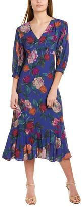 Nicole Miller Reine Rose Midi Dress