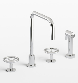 Rejuvenation Brooklyn Widespread Kitchen Faucet With Sprayer