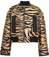 Kenzo Shell-trimmed Jacquard Bomber Jacket - Gold