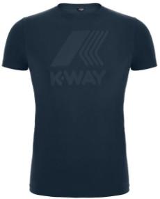 K-Way Blue Depht Elliot Marco Logo Tee - Large - Blue