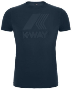 K-Way K Way Blue Depht Elliot Marco Logo Tee - Large - Blue