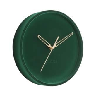 Present Time Dark Green Velvet Lush Wall Clock - Dark Green