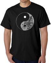 """Men's Word Art """"Yin Yang"""" T-Shirt in Black"""