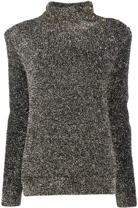 Balmain Knitted Roll Neck Jumper