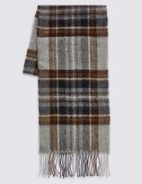 Marks and Spencer Lambswool Classic Royal Stewart Check Scarf