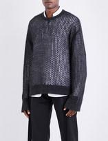 Chalayan Semi-sheer knitted jumper