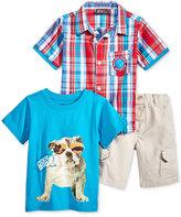 Nannette 3-Pc. Shirt, T-Shirt & Shorts Set, Toddler & Little Boys (2-7)