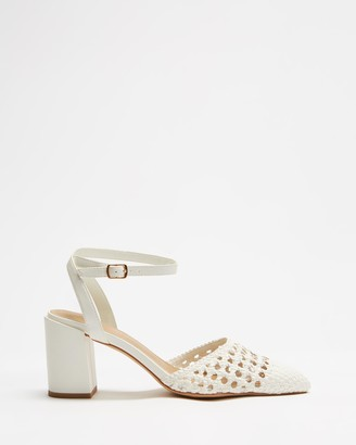 Spurr Women's White High Heels - Toven Heels - Size 5 at The Iconic