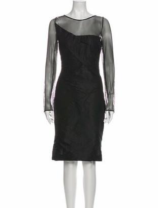 Roland Mouret Silk Knee-Length Dress Black
