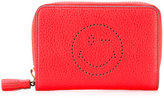 Anya Hindmarch smiley zip around wallet - women - Calf Leather - One Size
