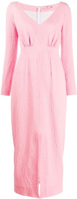 Emilia Wickstead textured style front slit detail dress