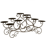 10 Candle Candelabra With Swirl Design in Brown by Lavish Home