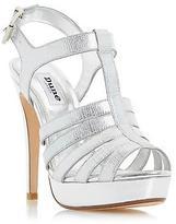 Dune Ladies MARBAYA High Heel Platform Sandal in Silver