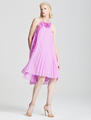 Halston Pleated Ruffle Dress