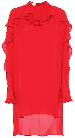 Valentino Ruffled silk dress