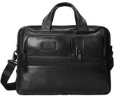 Tumi Alpha 2 - Expandable Organizer Laptop Leather Brief Computer Bags