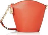 Calvin Klein Statement Series Lock Daytonna Leather North/South Top Zip Crossbody