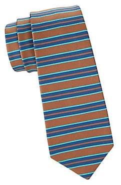 Kiton Men's Horizontal Stripe Silk Tie