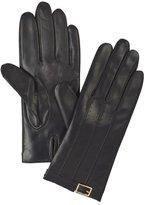 Target Womens Metal Buckle Leather Gloves Black