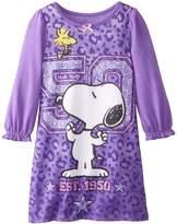 "Snoopy Peanuts Leopard Print"" Little Girls Nightgown"