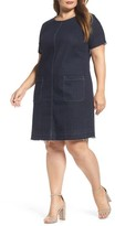 Plus Size Women's Two By Vince Camuto Release Hem Denim Dress