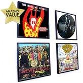 Retro Vinyl LP Record Album Square Frame 30 Centimeter 12 Inch Cover Sleeve Wall Art Display - Black