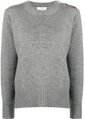 Allude Long-Sleeve Fitted Jumper