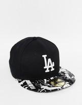 New Era 59fifty La Dodgers Fitted Cap - Black