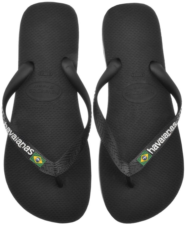 Havaianas Brazil Logo Flip Flops Black