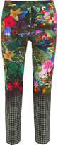 Mary Katrantzou Amra Printed Cotton-blend Slim-leg Pants - Black