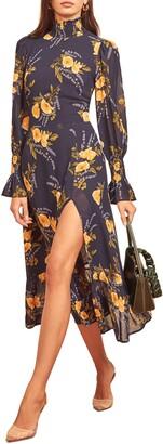 Reformation Galena Long Sleeve Midi Dress