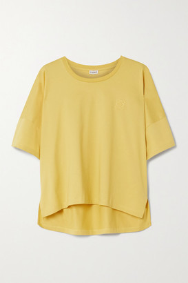Loewe Embroidered Cotton-jersey T-shirt - Yellow