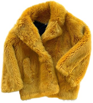 Diane von Furstenberg Yellow Faux fur Coats
