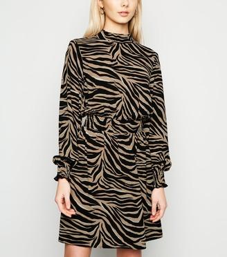 New Look Tiger Print Long Sleeve Mini Dress