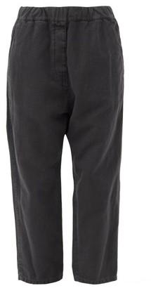 Nili Lotan Casablanca Cotton-blend Cropped Trousers - Dark Grey